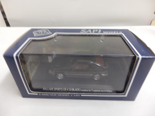 バラードスポーツ CR-X Si ブラック 1/43