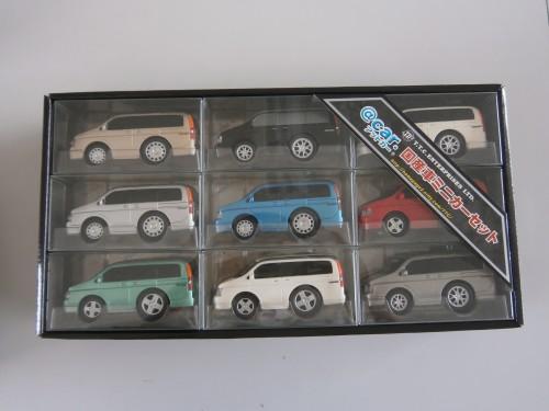 プルバックカー ステップワゴン 11cm 9台セット